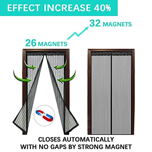 Magnetic Screen Door,Removable Screen Door with Full Frame Velcro and Heavy Duty Mesh Curtain (36''x82'') by Famirea (Image #2)