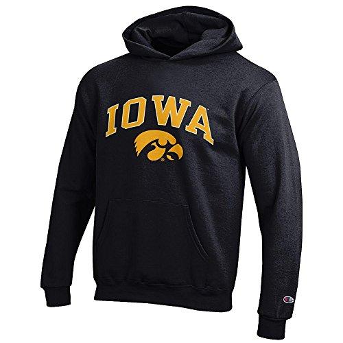 - Elite Fan Shop Iowa Hawkeyes Kids Hooded Sweatshirt Arch Black - S