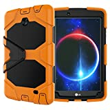 lg g2 case orange - Armor Case for LG G Pad F8.0 V498, Shockproof dust-proof hard armor Heavy Duty design with Screen protect and Kickstand Protective Case For LG G Pad 2 8.0'' [V498] /LG G Pad F 8.0'' (G-Orange)