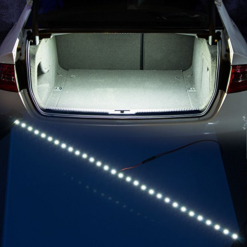 Auto Accessories Led - YIJINSHENG 30 SMD 5050 LED Strip Light For Car Trunk Cargo Area or Interior Illumination Decoration, Xenon White, Auto Accessories