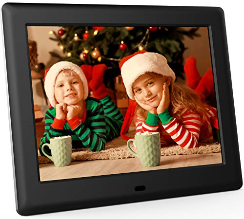 DBPOWER 8 Inch Digital Photo Frame, 1024×768 Resolution IPS Screen Display Picture Frame with Remote Control, Calendar…