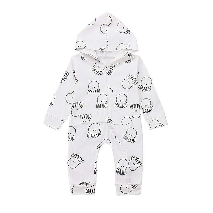 Monos para Unisex Bebé Niñas Niños Manga Largas Peleles con Capucha Otoño Invierno 2018 Moda PAOLIAN