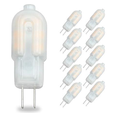 Pocektman 2W G4 LED Bombilla, Bi Pin Base,Caso Lechoso, Reemplazo de lámpara