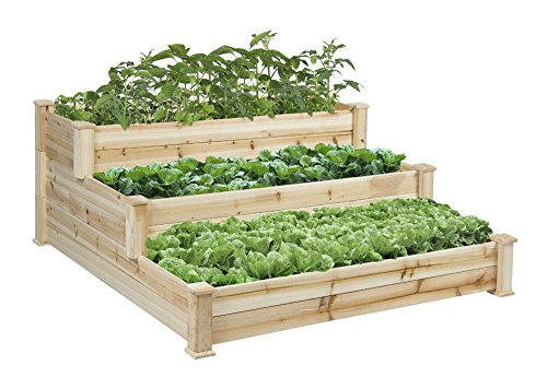 New Raised Vegetable Garden Bed 3 Tier Elevated Planter Kit Outdoor Gardening by Unknown