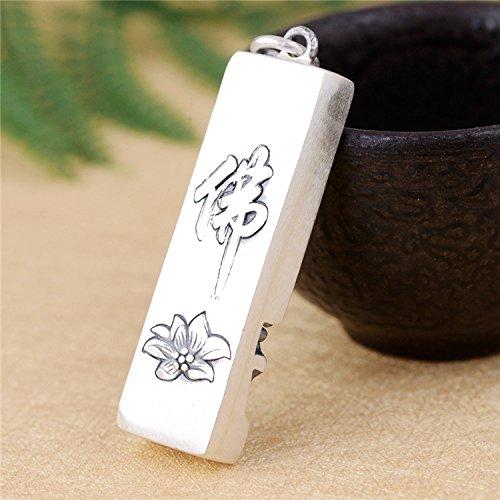 Herren Vintage 990 Sterling Silber Buddhismus Gr/ünder Sakyamuni Buddha Bar Halskette Anh/änger