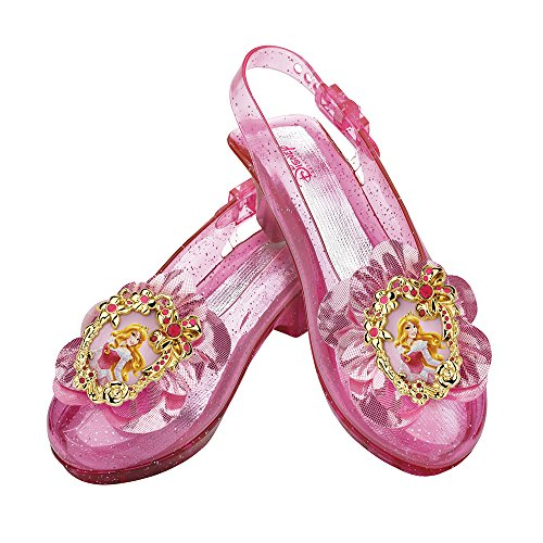 [Disguise Disney Princess Sleeping Beauty Aurora Sparkle Shoes] (Costumes Shoes For Kids)
