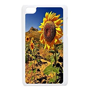 Yo-Lin case FXYL260298Sunflowers pattern protective case cover FOR IPod Touch 4th