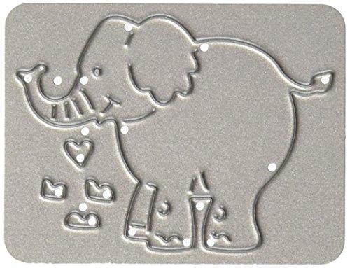 CottageCutz Metal Die-Baby Elephant 1.8-inch x 1.3-inch by CottageCutz