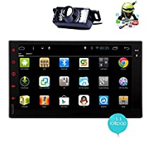 Rear view camera Quad core Android 5.1 2 Din Car Stereo 7 Inch Capacitive Touchscreen Tablet Entertainment - Indash Multimedia Head Unit w/ FM RDS Radio Tuner, WIFI, Bluetooth Handsfree, GPS Navigation