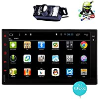 Rear view camera Quad core Android 5.1 2 Din Car Stereo 7 Inch Capacitive Touchscreen Indash Multimedia Head Unit w/ FM RDS Radio Tuner, WIFI, Bluetooth Handsfree, GPS Navigation