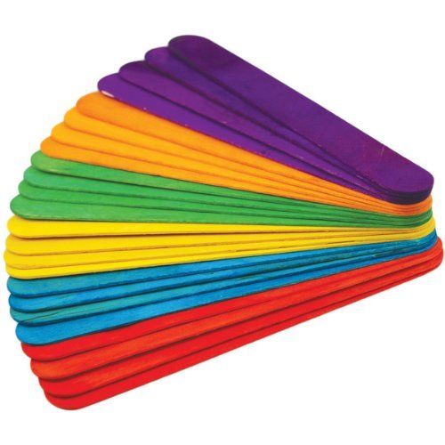 Extra Jumbo Craft Sticks-Colored 7-7//8 24//Pkg by Multicraft Imports