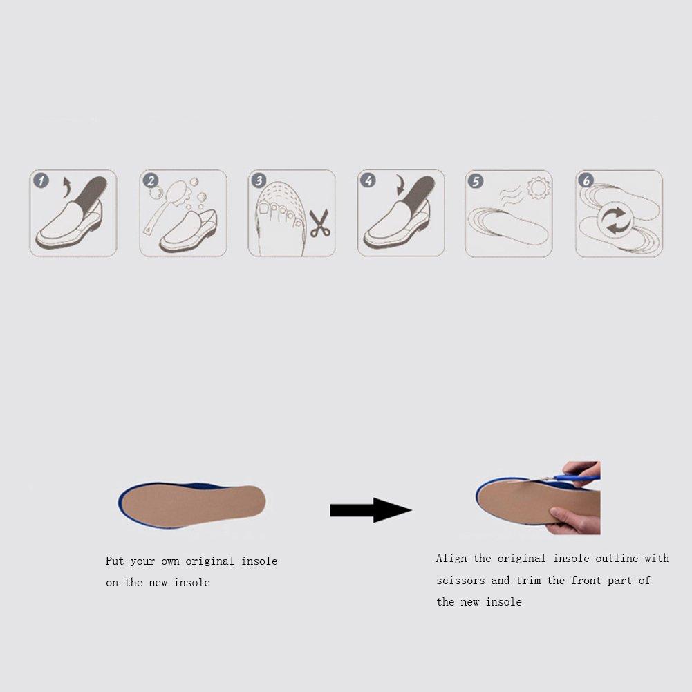 OSDFA PU-Speicher-Baumwollorthopädische Einlegesohlen-Bogen-Unterstützung für die Schock-Absorption, Zum Zum Schock-Absorption, des Fußes, der Fersen-Schmerz und der Fasciitis zu entlasten  - c9d167