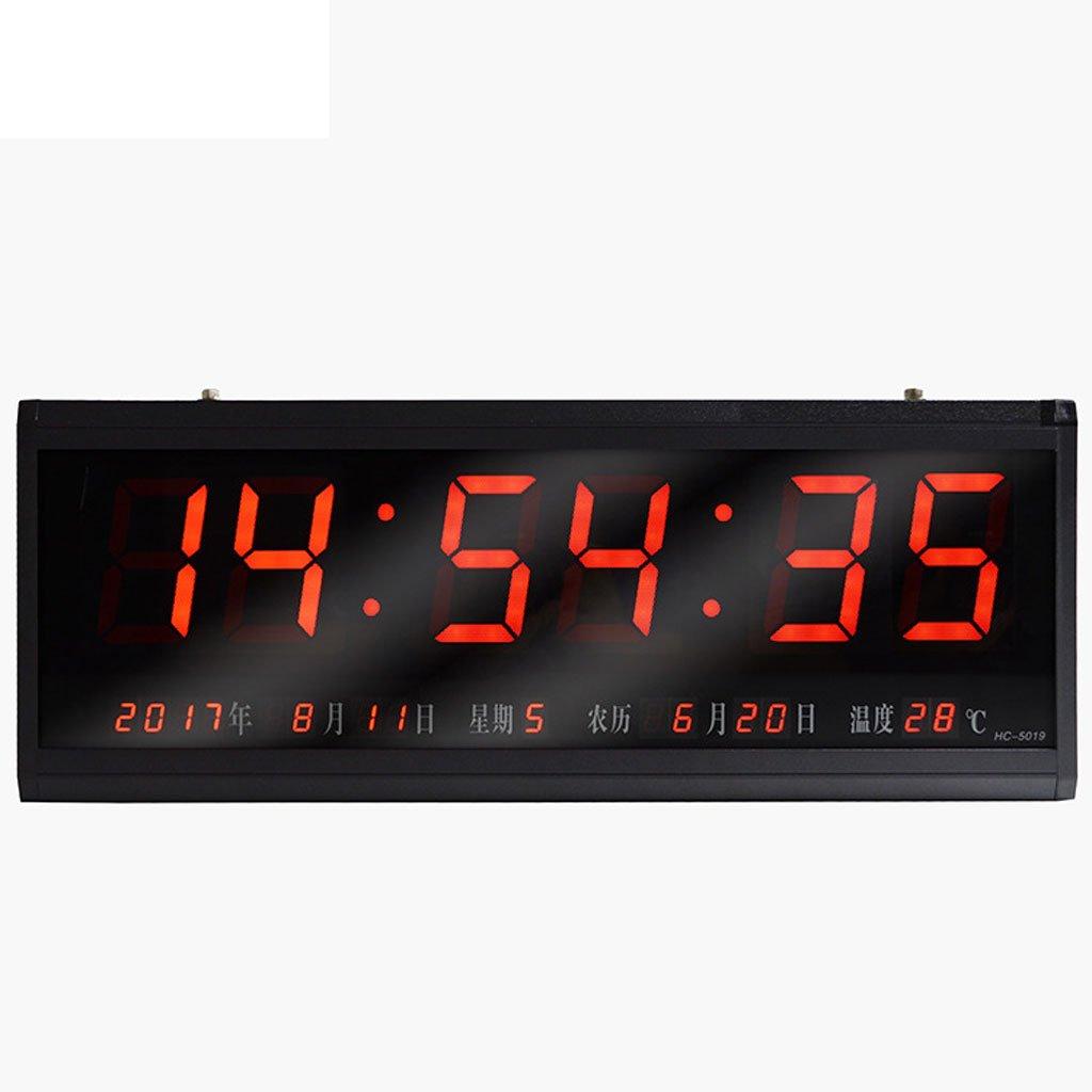 デジタルカレンダー情報現代ミニマルウォールクロックミュート装飾電子時計大きな数字 B07D5Q3Y5T