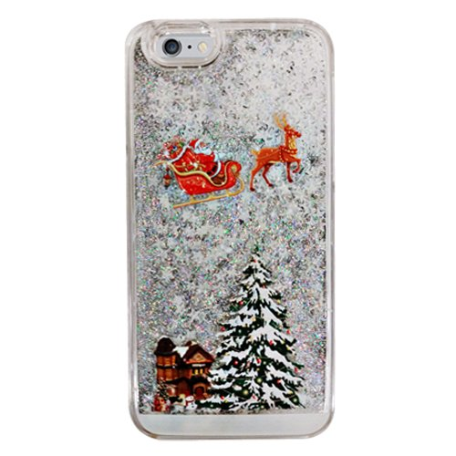 Amazon.com: Silver Christmas Snowflake Clear Liquid Water Glitter ...