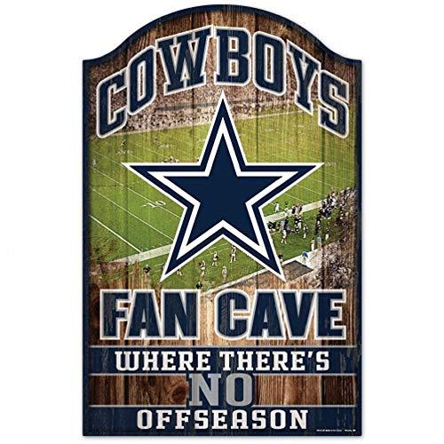 "NFL Dallas Cowboys Fan Cave Wood Sign, 11"" x 17"""