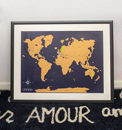 Scratch off world map poster with us states included scratchable scratch off world map poster with us states included scratchable world travel map 18x24 easy to frame perfect gift for travelers and teachers gumiabroncs Gallery