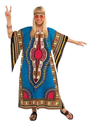 Forum Novelties Women's Hippie Generation Dashiki Girl Costume, Multi, One (Ladies Hippy Fancy Dress)