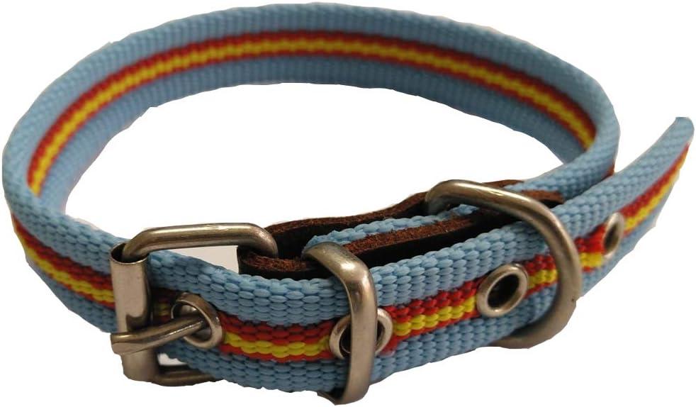 Global Collar de Perro Bandera de España Color Celeste | Collar de ...