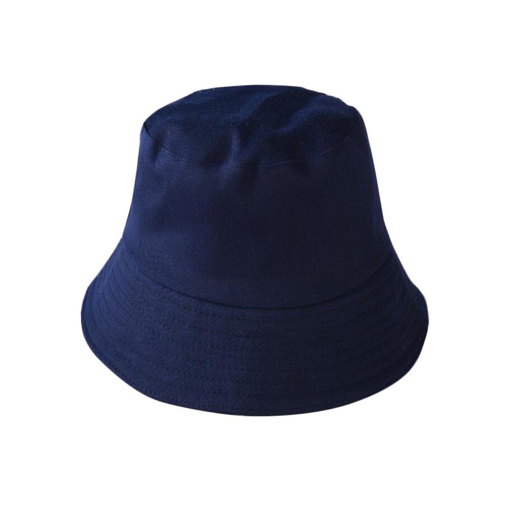 Topdo 1/pcs Los Dos Lados Portent de los Sombreros de Touristes Sombrero de Pescador 60/cm 60 cm Azul Marino algod/ón
