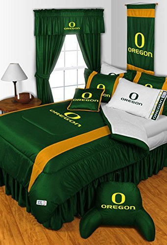 Oregon Ducks 5 PIECE TWIN BEDDING SET, BED IN A BAG (COMFORTER, FLAT SHEET, FITTED SHEET, 1 - PILLOW CASE, 1 - PILLOW SHAM by Dream Time Kids Bedding
