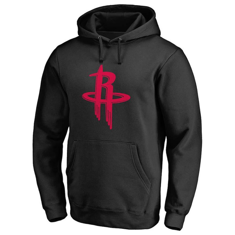 HS-MANWEI Maglia da Basket Houston Rockets Felpa con Cappuccio Sports Top Sportivi Maglione con Cappuccio 99/% Poliestere Traspirante,M