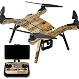 MightySkins Protective Vinyl Skin Decal for 3DR Solo Drone Quadcopter wrap cover sticker skins Reclaimed Wood