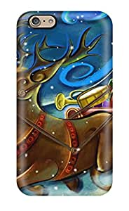 Pretty Iphone 6 Case Cover/ Santa Clause Creative Art Work Series High Quality Case