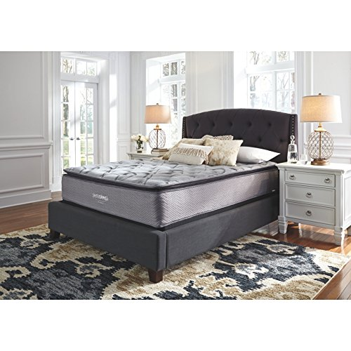 Ashley Single Bed - Signature Design by Ashley M84231 Curacao Conventional Bed Mattress, Queen, White