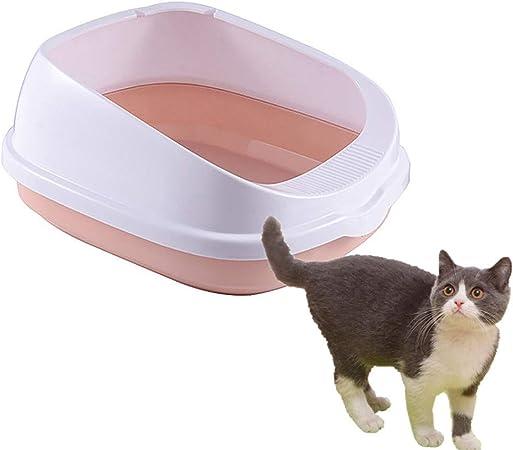 qingqingxiaowu Caja Arena Gato Arenero Gatos Anti-Splash Orinal Gatito Accesorios Gato Baño Conejo Litter Tray para Caja de Arena Caja de Arena Auto Limpia Pink: Amazon.es: Hogar