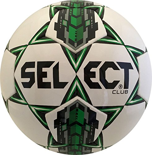 Club Soccer (Select Club Soccer Ball, White/Green, 5)
