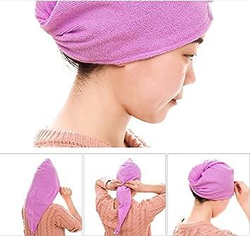 Las mujeres de suave ducha toalla de pelo Twist turbante de pelo Wrap Secado Cap gran regalo para Navidad: Amazon.es: Hogar