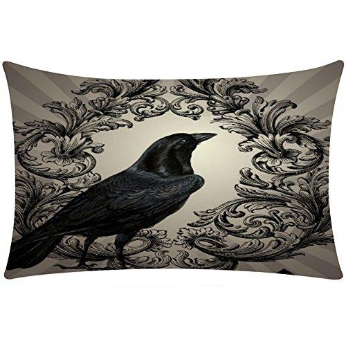 2017 New! Litetao Halloween Rectangle Printed Cover Decor Pillow Case Sofa Waist Throw Knitted Cushion Cover (D) (Date Halloween 2017)