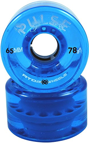 Atom Skates Pulse Blue Outdoor Quad Roller Skate Wheels Set of 4 ()