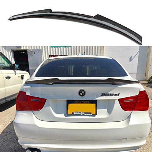 3 series E90 M4 style V style carbon fiber rear spoiler for BMW 3 series 4 door E90 M3 sedan - Series 1 Spoiler Bmw