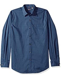 Men's Traveler Stretch Blues Non Iron Long Sleeve Shirt