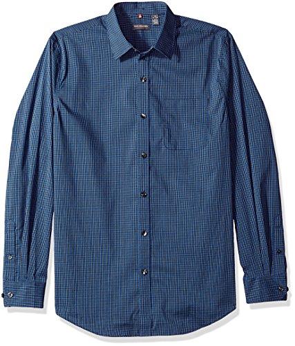 Non Iron Shirt - Van Heusen Men's Traveler Stretch Non Iron Long Sleeve Shirt, Dark Crisp Blue, X-Large