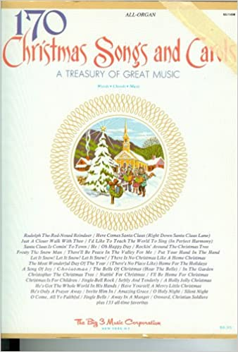 170 Christmas Songs And Carols A Treasury Of Great Music Word