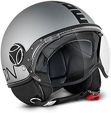 Momo Fighter Fgtr Evo Helm Titan Matt Doppeltes Visier Gr Xl Motorrad