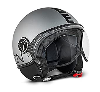 Casco Momo Fighter fgtr EVO Titanio Mate Doble Visera Talla XL