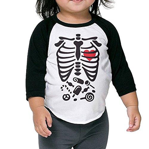 Skeleton Maternity Candy Ice Cream Baby Infant Raglan T Shirt 3/4 Sleeve Unisex Kid Baseball Tee Shirts 4 - Pregnancy Ice Cream