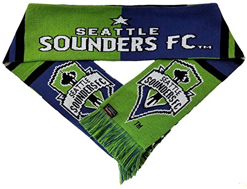 Seattle Sounders 2016 MLS Cup Champions Scarf - 4 Designs - Official MLS Scarf (Bars)