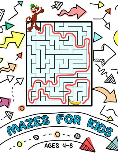 Mazes for Kids: Activity Book for Ages 4-8