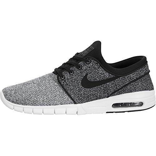Nike Stefan Janoski Air Max Sneakers White/ Black- Dark Grey Mens 7.5