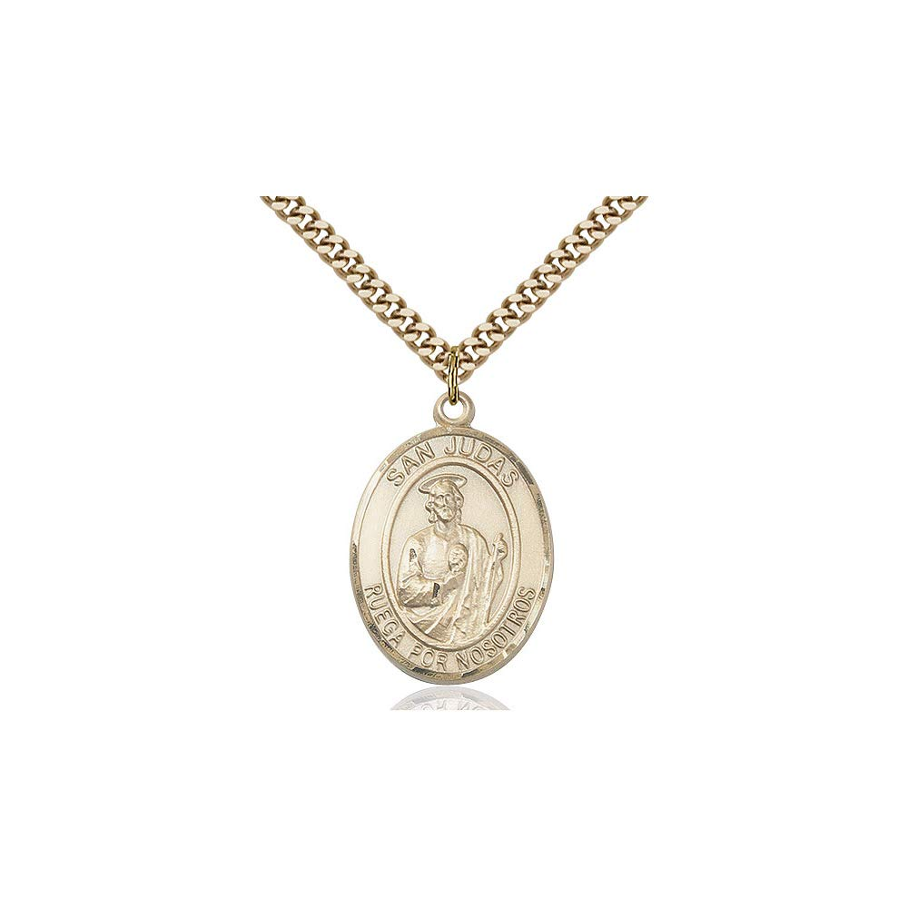 DiamondJewelryNY 14kt Gold Filled San Judas Pendant