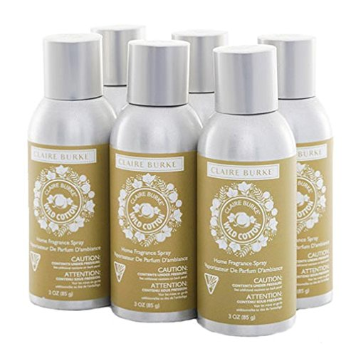 Claire Burke Home Fragrance Spray 3 Oz. Box of 6 - Wild Cotton
