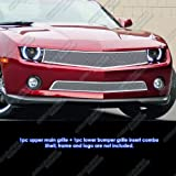 2010 camaro grille - 2010-2013 Chevy Camaro LT/LS V6 Stainless Steel Mesh Grille Grill Combo Insert # C77661T