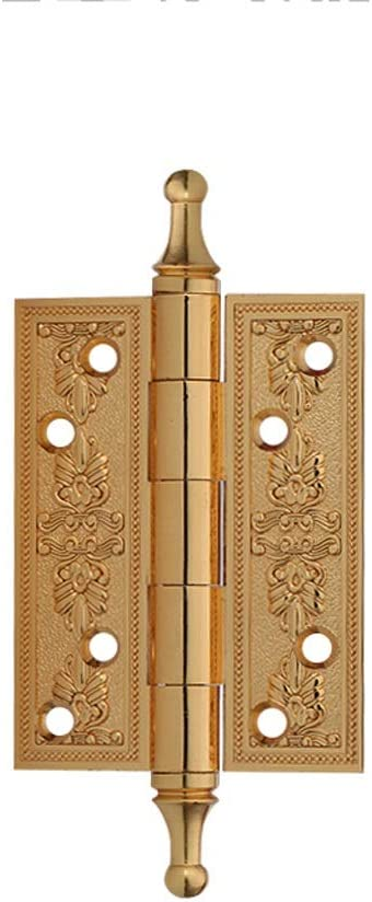 HUANGDA Bisagra Acero Inoxidable Antiguo Puerta de Madera Resistente Puerta cortafuego Puerta de Madera cepillada Gabinete de Cocina Dormitorio Armario Bisagras (Color : C, tamaño : 6PCS)