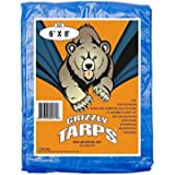 B-Air Grizzly Tarp, 8 x 8 Weave, Multi Purpose Waterproof Tarp, 6X8, Blue, Pack of 35