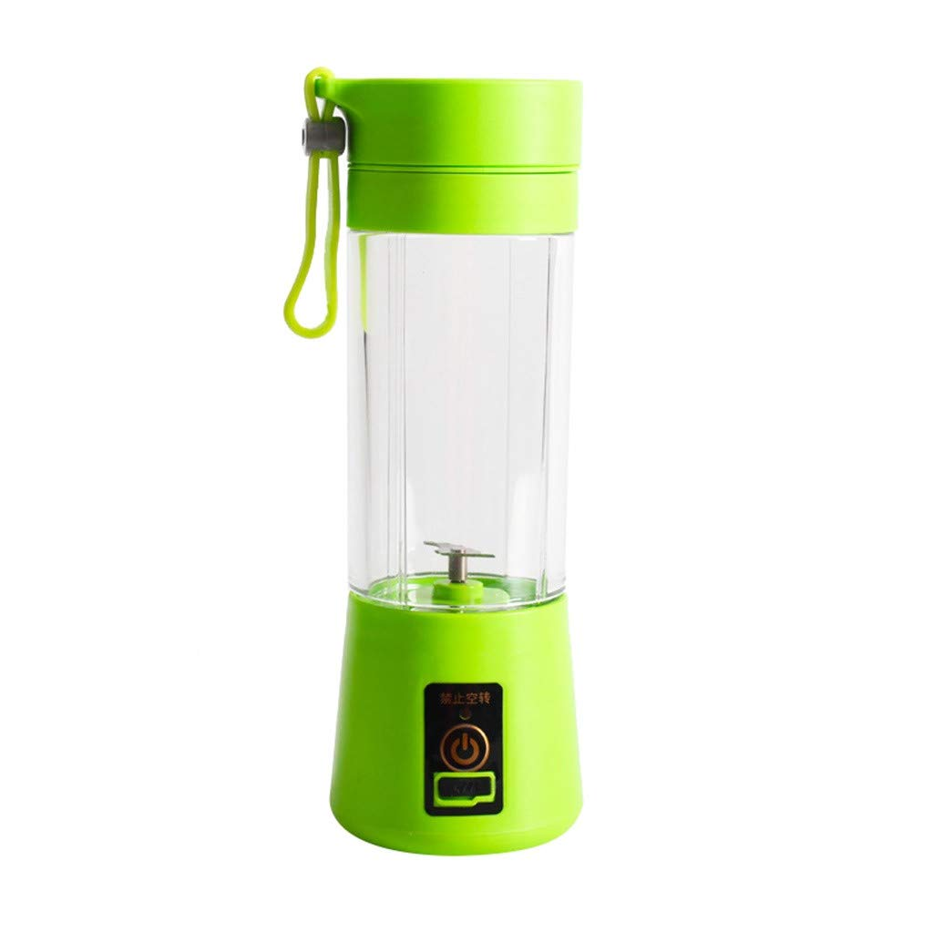 Portable Blender SOOTOP USB Electric Personal Juice Blender Single Serve Personal Blender Juicer Extractor Food Processor Mini RechargeableTravel Household Fruit Mixer Smoothie Cup Sport Bottle