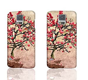 Blooming Apple Tree 3D Rough Case Skin, fashion design image custom, durable hard 3D case cover, Case New Design for Samsung Galaxy S5 I9600 , By Codystore
